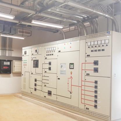 ตู้ควบคุมไฟฟ้า พร้อมระบบไฟฟ้าฉุกเฉินอัตโนมัติ Main Distribut